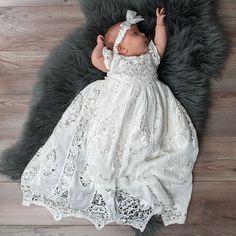 Grace Newborn Christening Gown & Bonnet