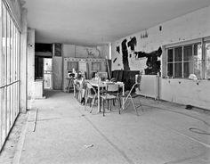 Ruins of the interior of Eileen Gray's E-1027 villa, near Monaco