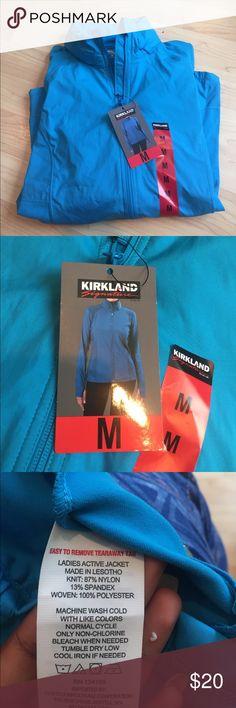 Ladies active jacket with hidden hood Kirkland jacket brand new! NWT. Jackets & Coats