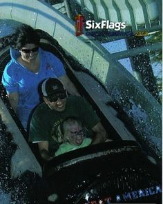 """The GREATEST roller coaster snap-shot of all time. It is called The """"Face-paint Nightmare"""". Now you've seen it. You CANNOT unsee it."""