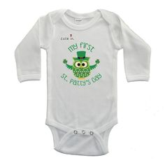 Cute in My First St. Patrick's Day Baby Bodysuit