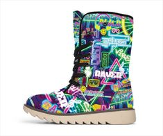 RAVE SCENE Polar Boots Rave Shoes, Winter Warmers, Visionary Art, Suede Material, Like A Boss, Trance, Festival Outfits, Edm, Psychedelic