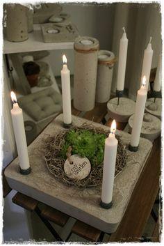 Weihnachtsdeko Gesteck Adventskranz Betonform