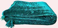 Teal Bedspread, Teal Comforter, Teal Quilt, Green Quilt, Velvet Quilt, Green Velvet, Baby Quilts, Comforters, Twin