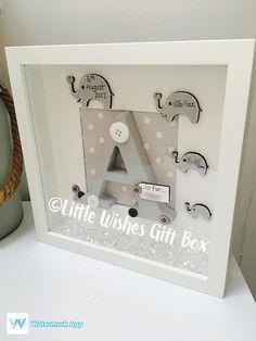 Baby Boy or girl birth / child initial box frame New Baby