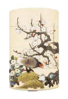 A three case Shibayama ivory Inro.j Artist Masamune Saku. Japanese Culture, Japanese Art, Japanese Screen, Art Japonais, High Art, Objet D'art, Ivoire, Katana, Maneki Neko