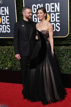 Justin Timberlake y Jessica Biel ambos en Christion Dior