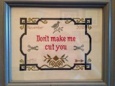 Distractify | 35 Gangster Cross-Stitches That Would Make Your Grandmother Proud