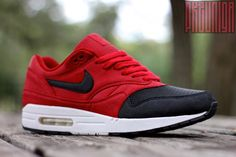 """I don't normally pin regular Nikes, but when I do, they are headturners: Nike Air Max 1 """"Black Kaps"""" Custom"""