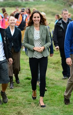 Kate Middleton makes first public appearance since birth of Prince George at Anglesey ultra-marathon