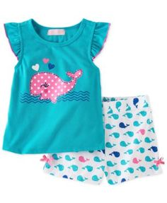 Kids Headquarters Little Girls' 2-Piece Top & Shorts Set