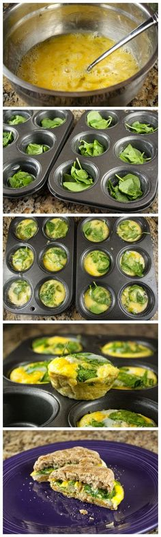 Spinach and Egg Breakfast Sandwiches