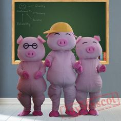 Pig Mascot Costumes for Adult Pig Costumes, Mascot Costumes, Adult Costumes, Baby Shark, Adult Children, Fun, Hilarious