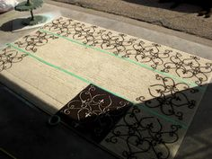 DIY Stenciled Rug Tutorial {Using Spray Paint!} | Sawdust and Embryos