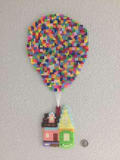 The house from Up! (Pixar movie) done in perler beads by darth_baloo