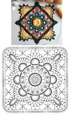 The Ultimate Granny Square Diagrams Collection The Ultima. The Ultimate Granny Square Diagrams Collection The Ultimate Granny Square Di Crochet Afghans, Motifs Afghans, Afghan Crochet Patterns, Knitting Patterns, Crochet Blankets, Motif Mandala Crochet, Mandala Yarn, Crochet Motifs, Point Granny Au Crochet
