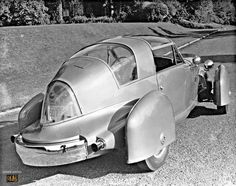 """1947 Tasco - Noted American designer Gordon M. Buehrig was approached by a group of private investors based in Connecticut, who had plans to build a sports-racing car. The project was named the """"TASCO,""""an abbreviation for The American Sports Car Co. Published accounts of the development and planning of the car vary: some spell it out as being designed by Buehrig; others state that it was designed by committee (investors) which more often than not usually ends up producing a compromised…"""