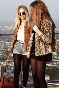 l Love these looks, esp. leopard coat #fashion #womensfashion #fashiontrends