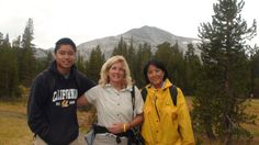 With Kimi-san and Anthony-san on the Mono Pass Trail. Yosemite. Aug 2012