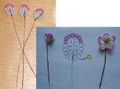 Beaded mini flowers
