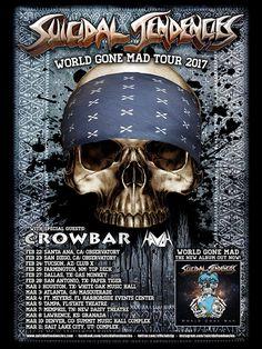 Suicidal Tendencies World Gone Mad Tour |  Suicidal Tendencies | Crowbar | Havok