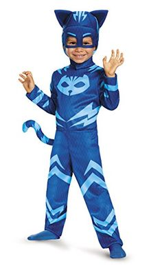 Your child don a heroic look wearing this colorful Pj Masks Catboy Toddler Classic Multicolor Halloween Costume. Like when Connor becomes Catboy in Disney Junior's Pj Masks, your child will imagine having super powers in this fun costume. Toddler Boy Halloween Costumes, Classic Halloween Costumes, Halloween Kids, Children Costumes, Pirate Halloween, Trendy Halloween, Halloween Cosplay, Super Hero Costumes, Cool Costumes