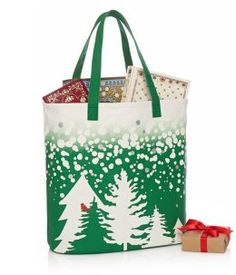 Cardinal in Trees Green Ombre Canvas Tote Christmas Bags, Christmas Ornaments, Curiosity Shop, Secret Santa Gifts, Inexpensive Gift, Home Gifts, Gifts For Friends, Really Cool Stuff, Give It To Me