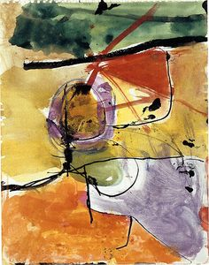 Richard Diebenkorn - Untitled From Sketchbook 1950 Richard Diebenkorn, Claude Monet, Abstract Watercolor, Abstract Art, Arthur Dove, Bay Area Figurative Movement, Robert Rauschenberg, Famous Artists, Contemporary Paintings