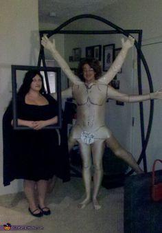 Theresa: These costumes are of Leonardo da Vinci's Vitruvian Man & Mona Lisa. We made the Vitruvian Man costume by using paper mache on his arms and legs. We drew da...