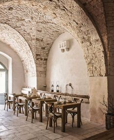 decordemon: Masseria Le Carrube An old farm transformed into a charming hotel Diy Rustic Decor, Tuscan Design, Rustic Design, Old Farm, Restaurant Design, Renting A House, Interior And Exterior, House Design, Inspiration Boards