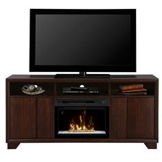 Dimplex Arkell Multi-Fire XD Media Console Fireplace - Walnut