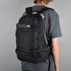 Nike SB Embarca Medium Skate Backpack - Black/Black/White - Nike SB from Native Skate Store UK