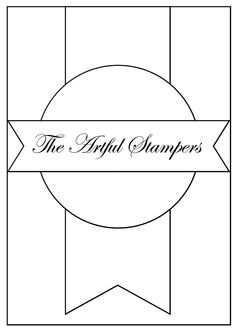 The Artful Stampers card sketch template. #card_sketch #card_making #scrapbooking
