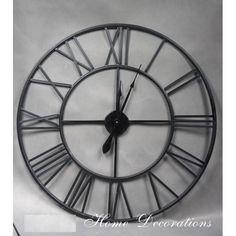 Kovové nástěnné hodiny Clock, Wall, Home Decor, Watch, Decoration Home, Room Decor, Clocks, Walls, Home Interior Design