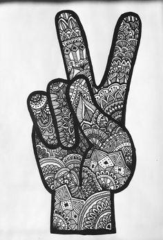 zentangle hand by Romina