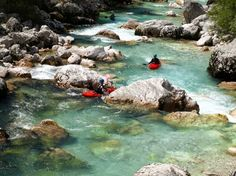 The beauty of the emerald Soca river