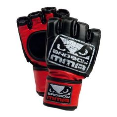 Bad Boy Pro Style MMA Training Glove (Black, Small/Medium) by Revgear. $29.99. Bad Boy Pro Style MMA Training Glove. Open palm design for maximum grip with the additional security of a thumb strap. Premium grade synthetic leather cover for durability and protection. Moisture wicking bonded liner to reduce odor and foam breakdown. Adjustable hook and loop wrist strap provides maximum support. Dual layer padding combines EVA foam with Gel Infusion Technology   to bett...