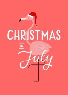 christmas in july awesome flamingo