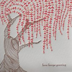 weeping willow letterpress card from Pink Olive - $5.50