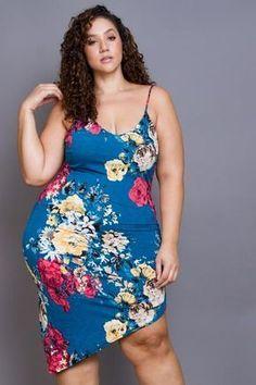 Plus Size Bulgari Print Spaghetti Dress