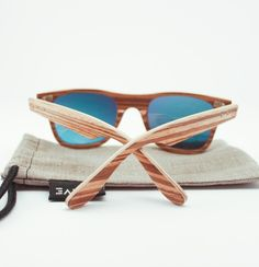 zebrano wooden sunglasses by Kaive designs,