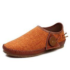 scarpe da uomo punta rotonda Mocassini in pelle tacco piatto scarpe più colori disponibili – EUR € 49.99