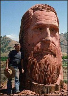 what's better than a wood carving of a bearded man?