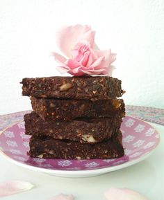 "Raw Chocolate, Fig & Rosewater ""Brownies"""