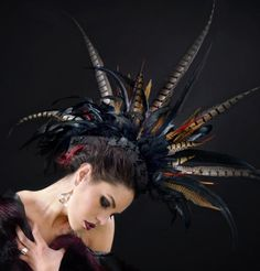 Custom Listing For Alli  Feather Mohawk  Multi by StraightLacedSF, $320.00