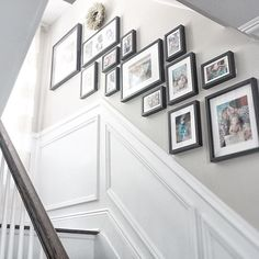 Decorating our home is a timely process to achieve that special cozy feeling-- We finally tackled our stairway wall and hung up family photos over the weekend. I can't wait to fill in the little spaces with some small decorative pieces, but in the meanwhile, it has never felt more like home Swooning over each memory every step of the way... . . . #farmhouse #farmhousestyle #farmhousedecor #neutraldecor #vivalavignettetuesday #gallerywall #instahomedecor #inspireushomedecor #mybhg…