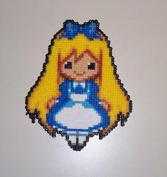 Alice in Wonderland - Perler beads  by AngelLale87 on deviantart