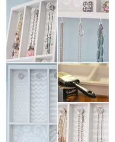 DIY Jewelry Storage Ideas | Click for Tutorial | DIY Storage Ideas for Small Bedrooms