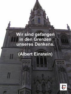 #Zitat Wir sind gefangen in den Grenzen unseres Denkens. (Albert Einstein)