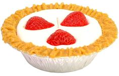 Fruit Strawberry Pie Candles 5 Inch